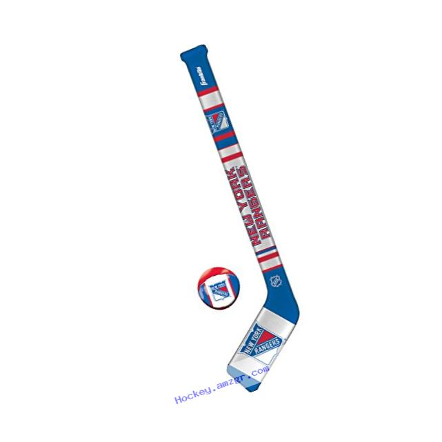 Franklin Sports NHL New York Rangers Team Soft Sport Hockey Set