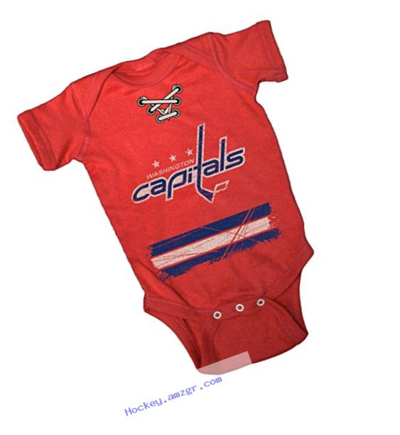 NHL Washington Capitals Beeler Vintage Infant Jersey Creeper, Newborn, Red